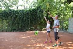 Имитация подачи теннис
