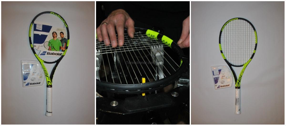 перетяжка струн теннисной ракетки