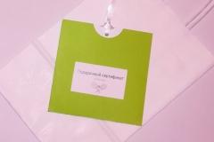 Подарочный сертификат по теннису зеленый